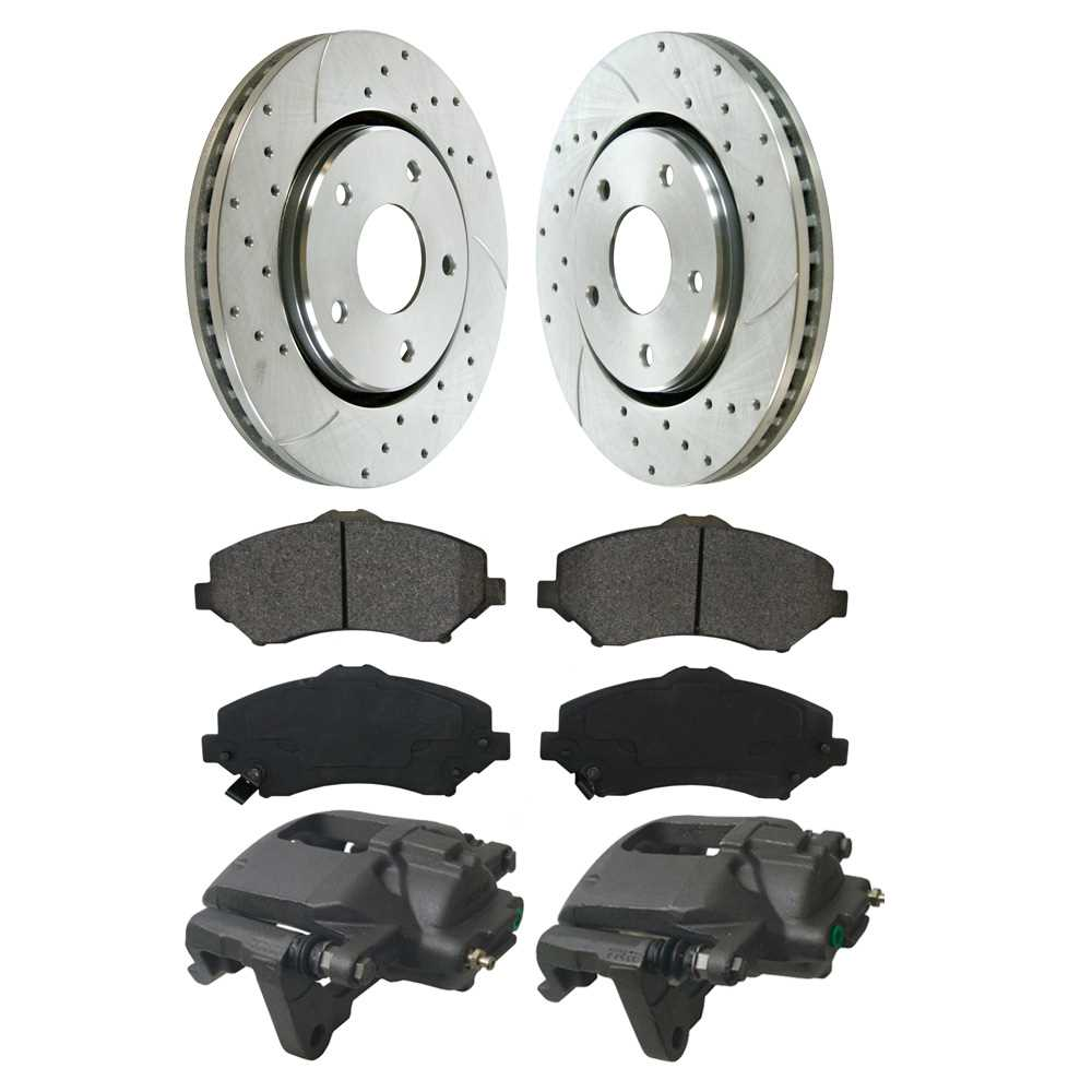 Rear Set Prime Choice Auto Parts PR41481LR-BC30298 2 Drilled /& Slotted Rotors /& Brake Calipers