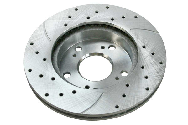 Front Performance Silver Rotors Calipers and Metallic pads Set - Part # SRBRPKG00125