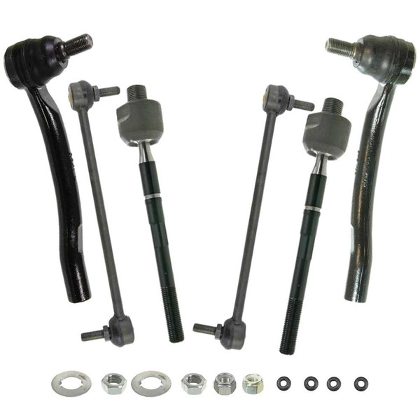 [Set] 2 Inner & 2 Outer Tie Rod Ends & 2 Front Sway Bar Link Kits - Part # STT722505