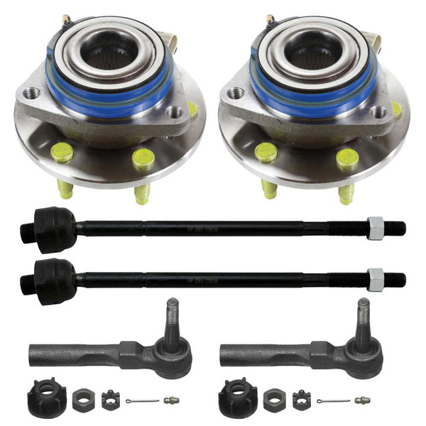 4 Inner & Outer Tie Rods & 2 Hub Bearings - Part # SUSPKG10076
