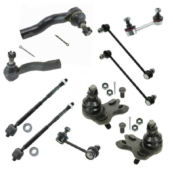 Front and Rear 10 pieces set of Sway Bar Ball Joint Tie rod - Part # SUSPKG10108