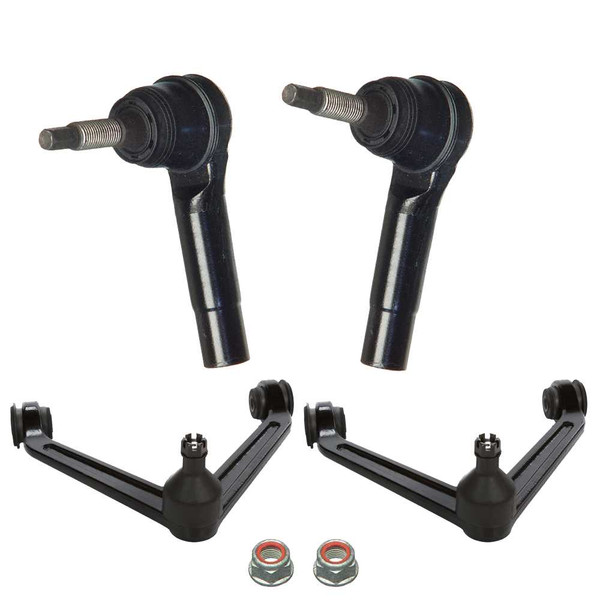 Two Steering Tie Rod Ends and Two Suspension Control Arms - Part # SUSPKG11039