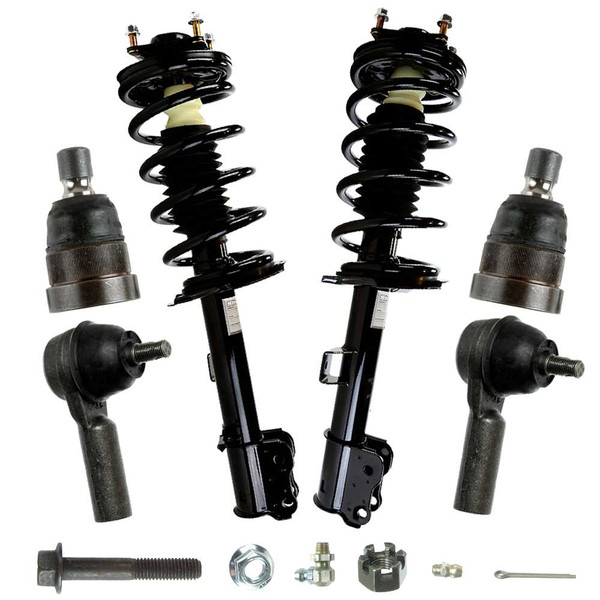 [6Pc Suspension Kit] Complete Struts Sway Bar Links And Outer Tie Rod Ends - Part # SUSPKG1191