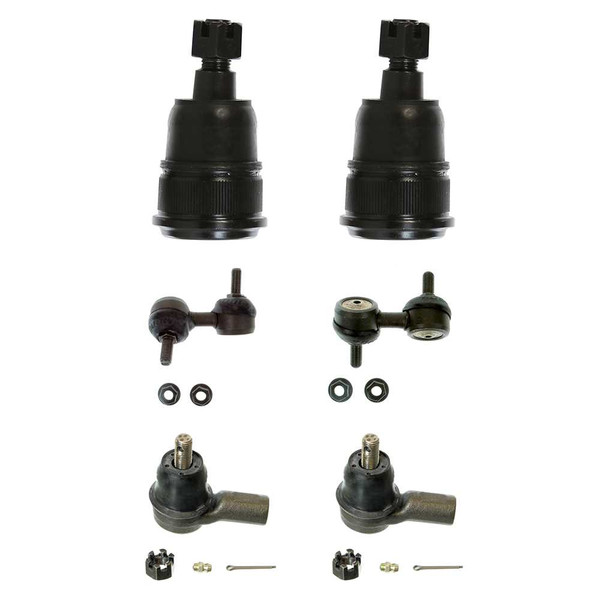 Set of 6 PCs Lower Ball Joints & Outer Tie Rods & Sway Bar Link Kit - Part # SUSPKG699