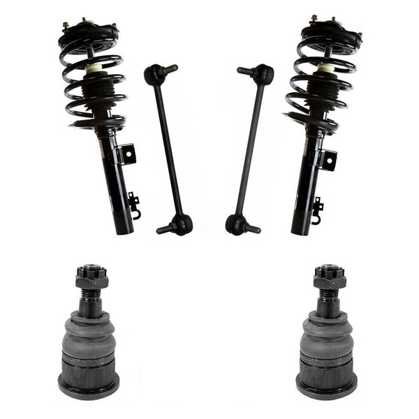 [Front Set] 2 Complete Front Strut Assemblies 2 Lower Ball Joints 2 Sway Bar Links - Part # SUSPKG896