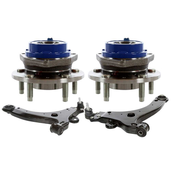 [Set] 2 Front Lower Control Arm W/Ball Joint Two Wheel Hub/Bearing Assembly - Part # SUSPPK00338