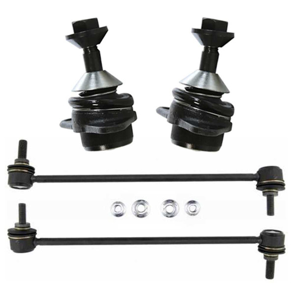 New 2 Front Lower Ball Joints and 2 Sway Bar Links - Part # SUSPPK01572