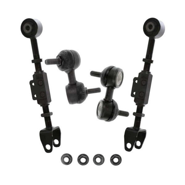4 Piece Rear Upper Control Arm Front Sway Bar Link Bundle - Part # SUSPPK01679