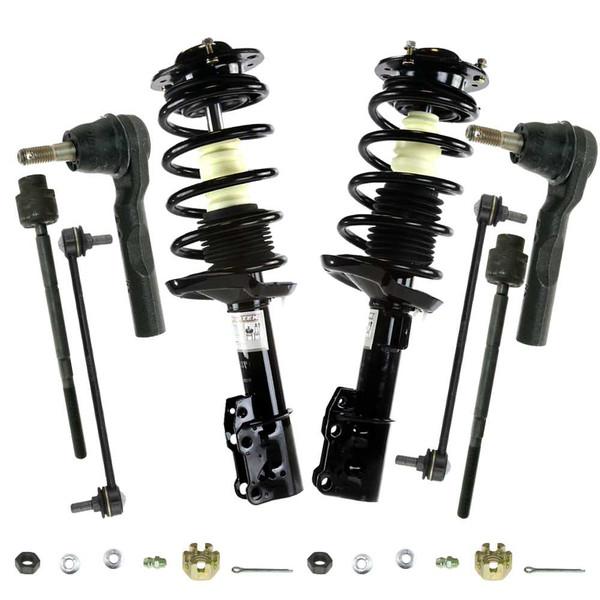 [Set] Front Kit 8 Piece Complete Struts Tie Rod Ends Sway Bars - Part # SUSPPKG02122