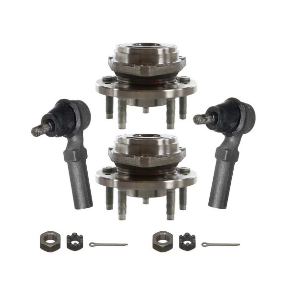 [Set] 2 Front Hub Bearings & 2 Front Outer Tie Rods - Part # TRKHB30083158