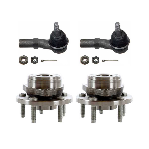[Set] 2 Front Hub Bearings & 2 Front Outer Tie Rods - Part # TRKHB30163102