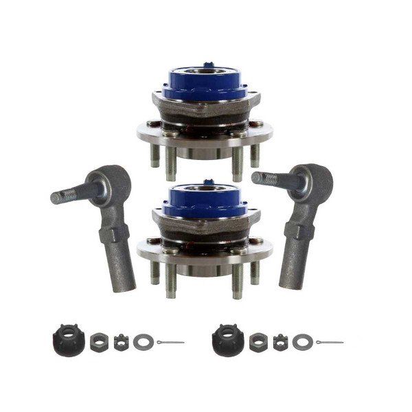 [Set] 2 Front Hub Bearings & 2 Front Outer Tie Rods - Part # TRKHB30283123