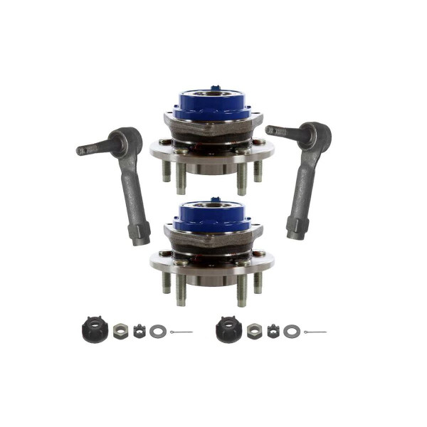 [Set] 2 Front Hub Bearings & 2 Front Outer Tie Rods - Part # TRKHB30293123