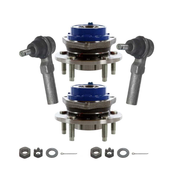 [Set] 2 Front Hub Bearings & 2 Front Outer Tie Rods - Part # TRKHB30313123