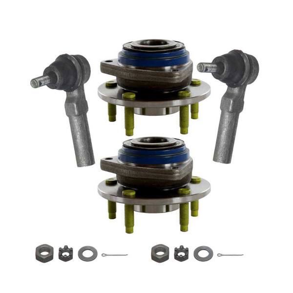 [Set] 2 Front Hub Bearings & 2 Front Outer Tie Rods - Part # TRKHB30313205