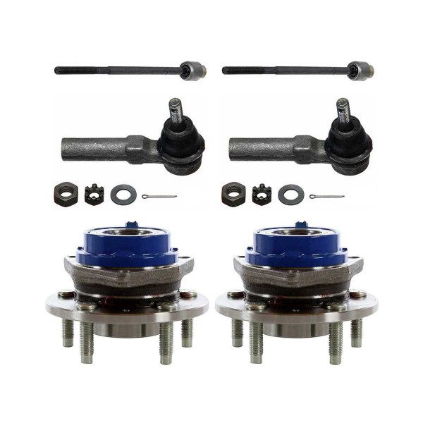 [Set] Front Inner & Outer Tie Rods & Hub Bearings - Part # TRKHB40343203