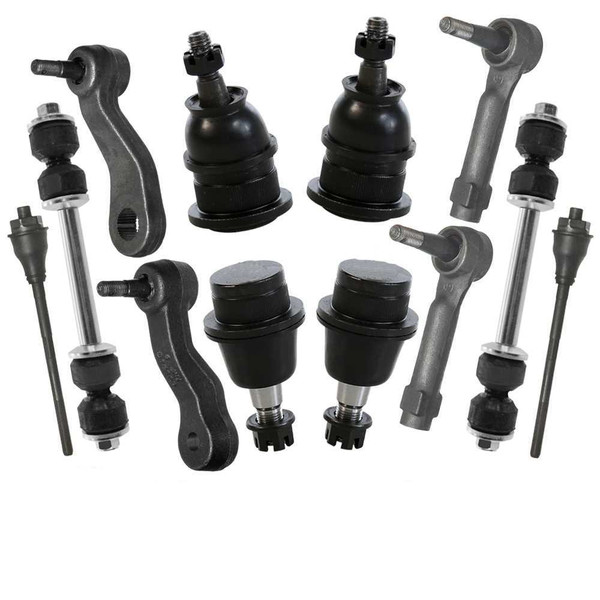 [Set] 4 Tie Rods 4 Ball Joints 2 Sway Bars 1 Idler Arm 1 Pitman Arm - Part # TSPIB3038516952802KIT